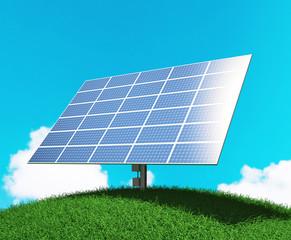 Pannello fotovoltaico o solare su collina