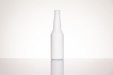 Blank bottle on white background. Template for design presentations. Branding Mock-Up.