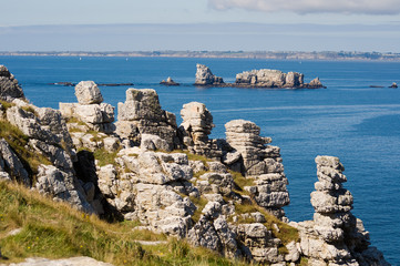 Felsküste der Halbinsel Crozon, Bretagne, Frankreich