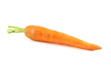 Fresh carrot isolated on a white background