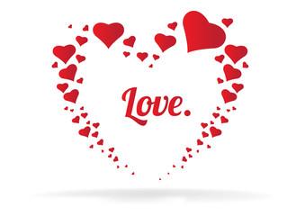love heart icon logo