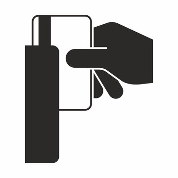 Swipe card security system icon
