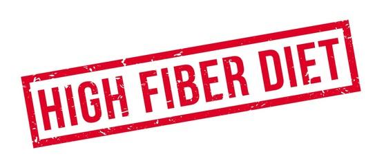 High Fiber Diet rubber stamp