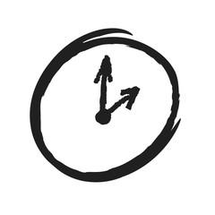 grunge clock with arrow
