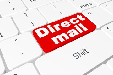"""Button """"Direct mail"""" on 3D keyboard"""