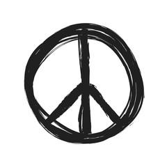 grunge peace symbol