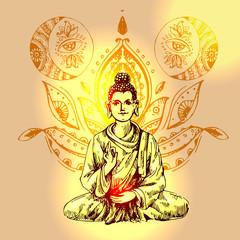 illustration  with buddha