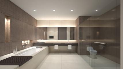Luxury water closet / 3D rendering