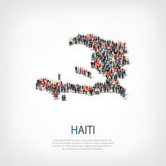 people map country Haiti vector