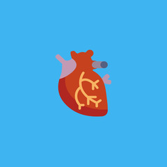 human heart icon. flat design