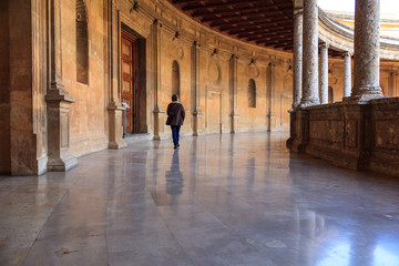 Cloister of the Palace of Carlos V in the Alhambra of Granada.