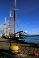 Segelschiff am Tiessenkai