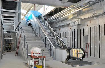 escalator the under construction