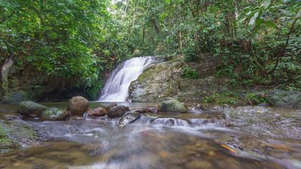 Wodospad w dżungli