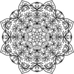 Decorative abstract mandala pattern