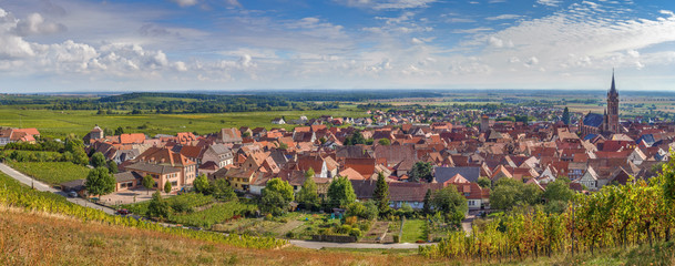 Panoramic view of  Dambach la Ville, Alsace, France Fototapete