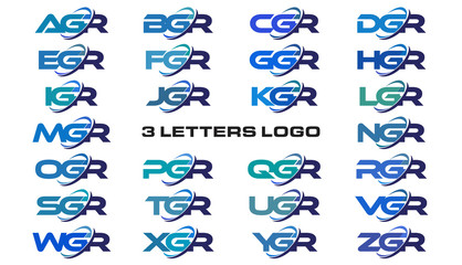 3 letters modern generic swoosh logo AGR, BGR, CGR, DGR, EGR, FGR, GGR, HGR, IGR, JGR, KGR, LGR, MGR, NGR, OGR, PGR, QGR, RGR, SGR, TGR, UGR, VGR, WGR, XGR, YGR, ZGR