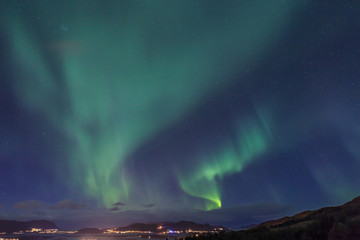 Aurora borealis. Northern light.