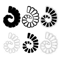 Spiral Shell, Art Deco Design