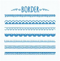 set of hand drawn border