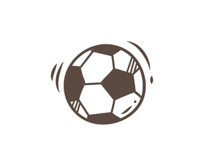 soccer ball icon in doodle style
