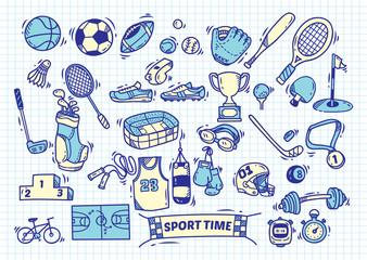 Sport doodle element
