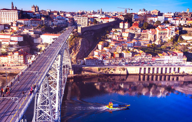 The Luis 1 bridge in Porto.
