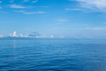 Mount Agung with ocean view in Bali, Indonesia