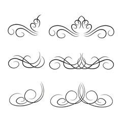 Swirl, Floral, Vintage, Wedding Element