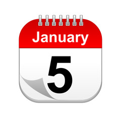 January 5 calendar icon