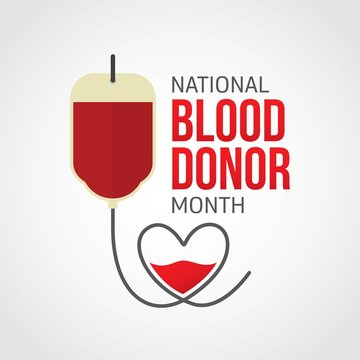 National Blood Donor Month - January. Vector Illustration
