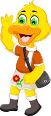 funny duck cartoon holiday