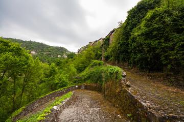 Scorci del centro storico del borgo ligure di Apricale, Imperia, Liguria, Italia
