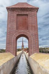 Aqueduct Puente del Aguila, Nerja, Spain. Canal
