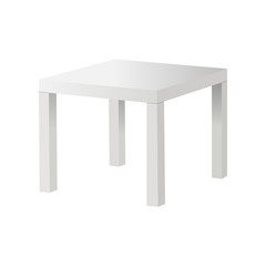 White table isolated. Vector illustration