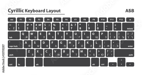 2899b293305 Cyrillic alphabet keyboard layout set - Isolated Vector Illustration ...