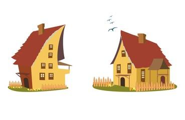 Cartoon home vector set