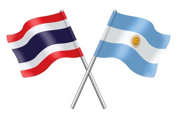 Flags: Thailand and Argentina