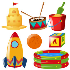 Different items of toys