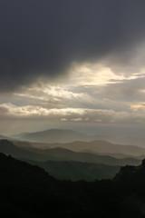 Montañas amenazadas por la lluvia