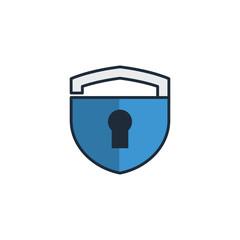 Lock Shield Security Logo Vector Design