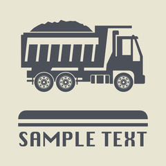 Truck icon or sign, vector illustration