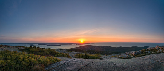 Cadillac Mountain sunrise panorama