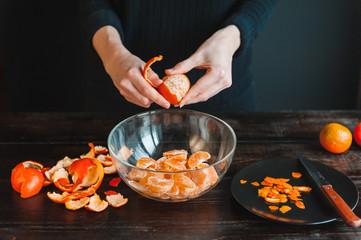 step by step, do tangerine jam.