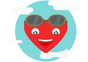 heart icon as a pilot