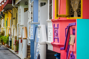 Colorful houses in Singapore