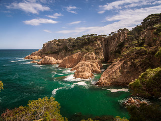A beautiful coastal landscape of Mediterranean sea in Spain