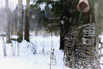 rustic village winter
