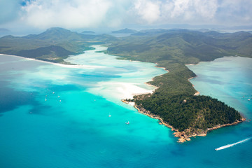 Whitsundays from above, Queensland, Australia