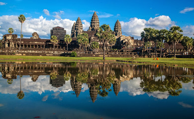 Angkor Wat Temple, Siem reap, Cambodia. Reflection in the lake